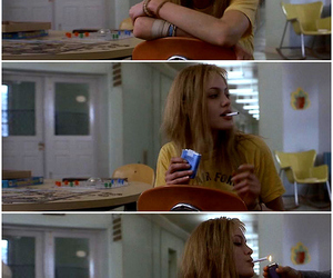 Angelina Jolie, smoke, and girl interrupted image