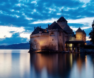beautiful, blue, and castle image