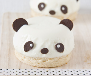 panda, cute, and food image