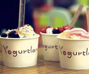 yogurt, food, and ice cream image