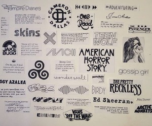 teen wolf, skins, and american horror story image
