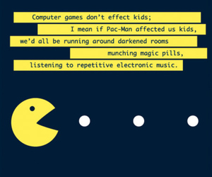 pacman, funny, and text image