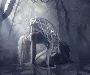 angel, sad, and dark image