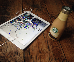 frappuccino, starbucks, and ipadair image