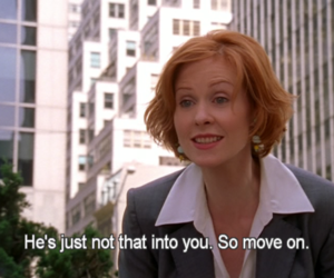 sex and the city, move on, and quotes image