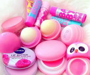 pink, eos, and nivea image