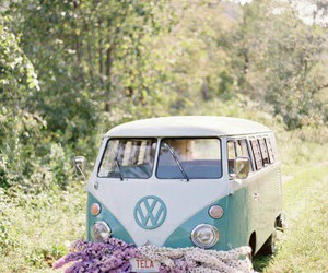 flowers, hippie, and lavender image