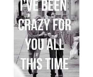 love, quote, and crazy image