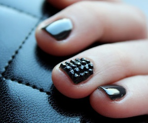 nails, beautiful, and black image