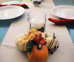 candles, table, and thanksgiving image