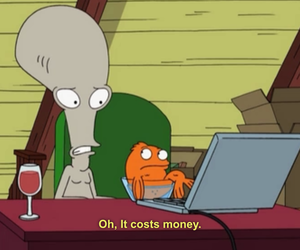 american dad, money, and funny image