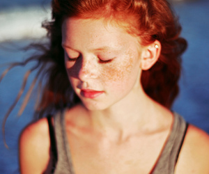 girl, red hair, and freckles image