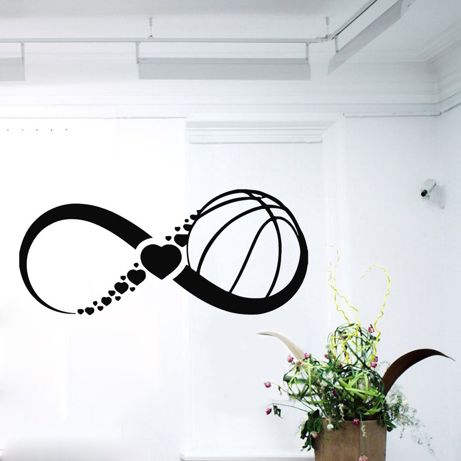Wall decals infinity symbol love basketball by decalmyhappyshop biocorpaavc Choice Image