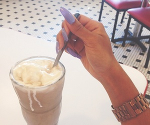 nails, coffee, and food image