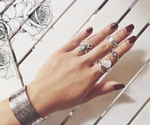 girl, hand, and moonstone image