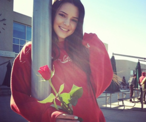 kendall jenner, rose, and smile image