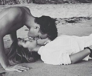 adorable, beach, and love image