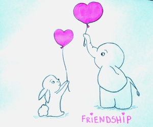 friendship, klečka, and cute drawing pink image
