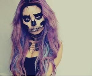 Halloween, hair, and makeup image