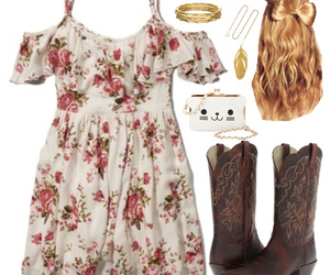 adorable, clothes, and cowboy boots image