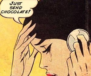chocolate, comic, and pop art image