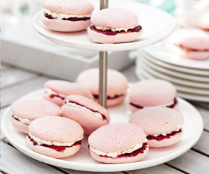 pink, macarons, and macaroons image