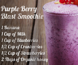 healthy, smoothie, and berries image