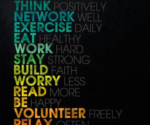 eat, exercise, and relax image
