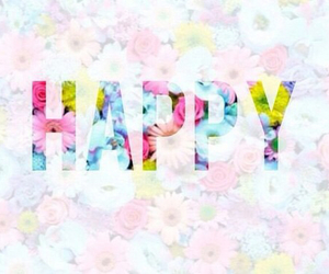 happy, flowers, and fun image