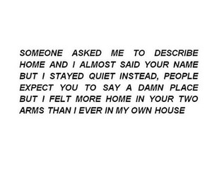 quote, love, and home image