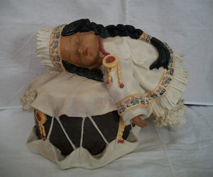 doll, native american, and vintage image