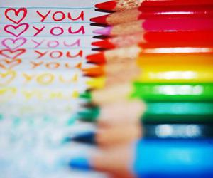 love, colorful, and I Love You image