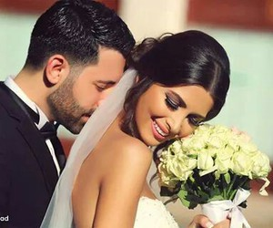 love, wedding, and flowers image