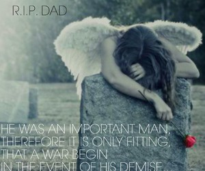 angel, crying, and dad image