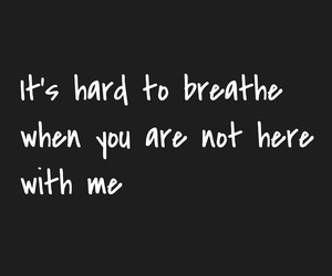 breathe, hard, and quote image