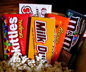 candy, chocolate, and skittles image