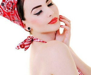 Pin Up, red, and rockabilly image