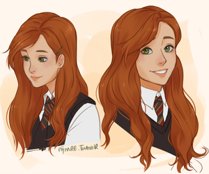 harry potter, lily evans, and book image