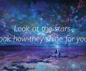 coldplay, galaxy, and Lyrics image