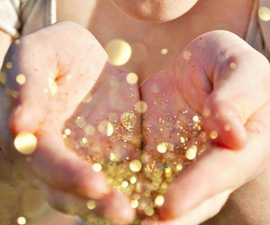 glitter, gold, and sparkle image