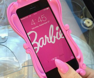 barbie, pink, and iphone image