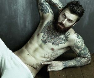 tattoo, guy, and handsome image