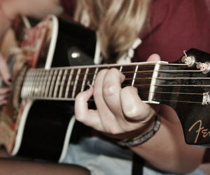 acoustic, fender, and girl image