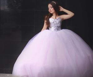 dress and quinceanera image