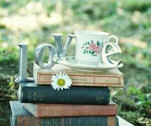 book, love, and cup image