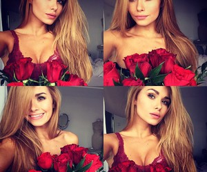 girl and roses image
