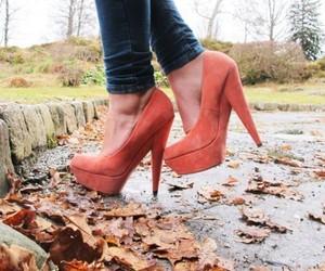 autumn, orange, and shoes image
