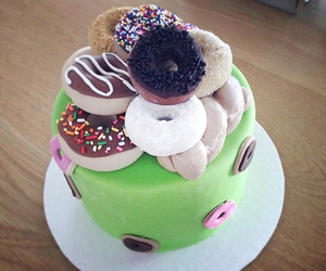 cake, donut, and eat image