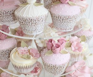 cupcake, beautiful, and flowers image