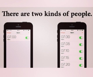 people, phone, and alarm image